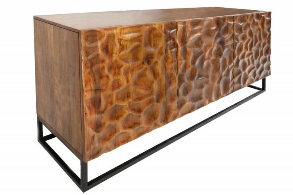 INVICTA komoda VULCANO 160 cm Mango - drewno naturalne, metal