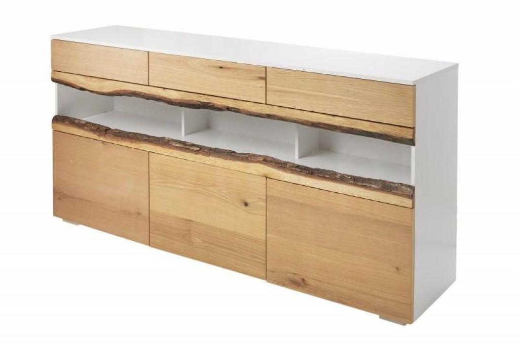 INVICTA komoda WILD OAK 180 cm biały dąb - drewno naturalne, płyta MDF