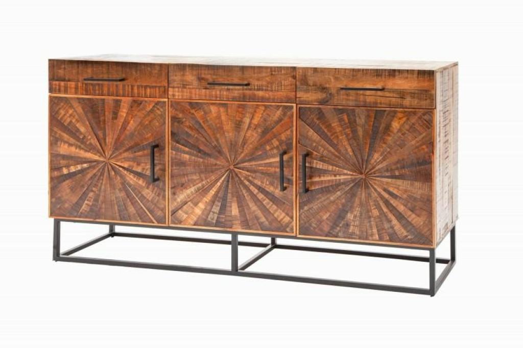 INVICTA komoda WOOD ART 160 cm Mango - drewno naturalne, metal