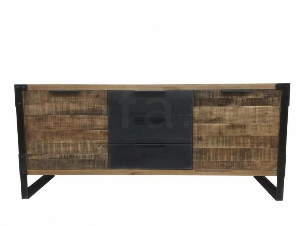INVICTA komoda FACTORY 180 cm mango - drewno naturalne, metal