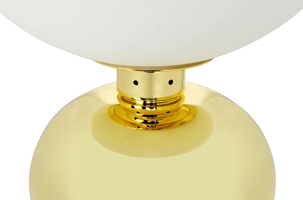 Lampa biurkowa BOY złota - LED, metal, szkło