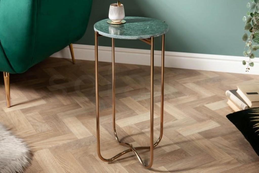 INVICTA stolik NOBLE I 35 cm zielony - marmur, metal
