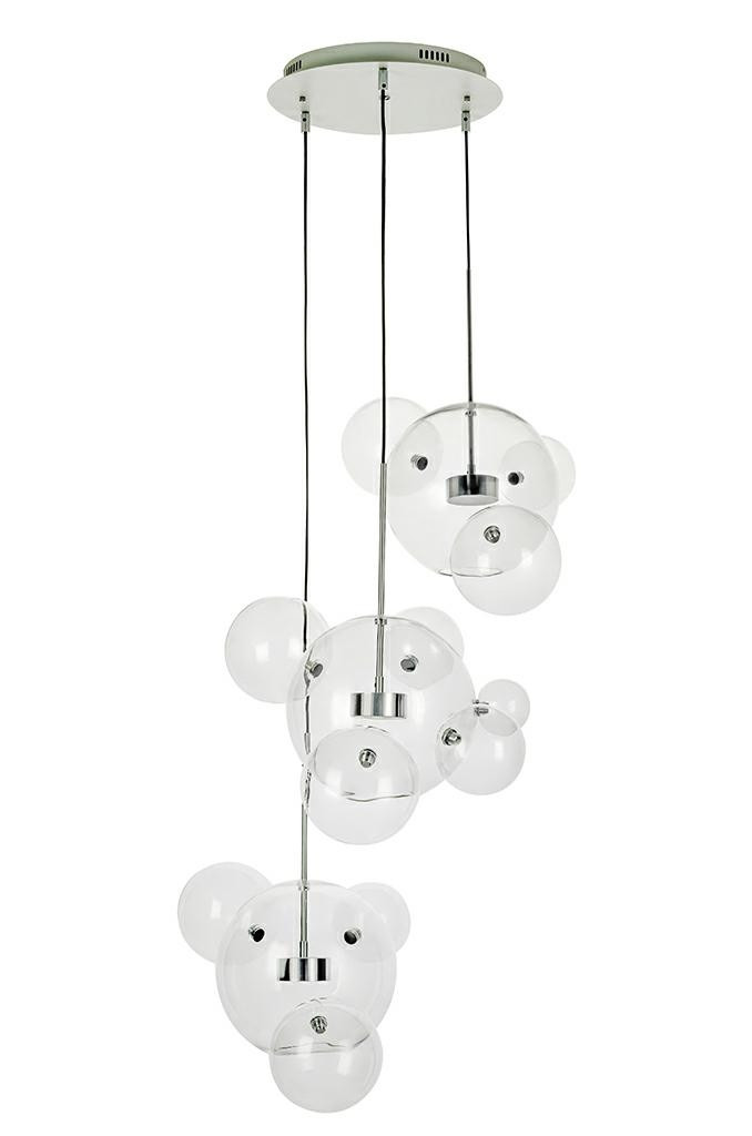 Lampa wisząca CAPRI DISC 3 chrom - 180 LED, aluminium, szkło