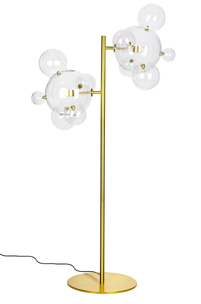 Lampa podłogowa CAPRI FLOOR 6 złota - LED, aluminium, szkło