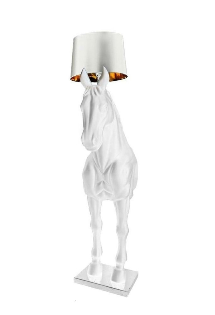 Lampa podłogowa KOŃ HORSE STAND S biała - włókno szklane
