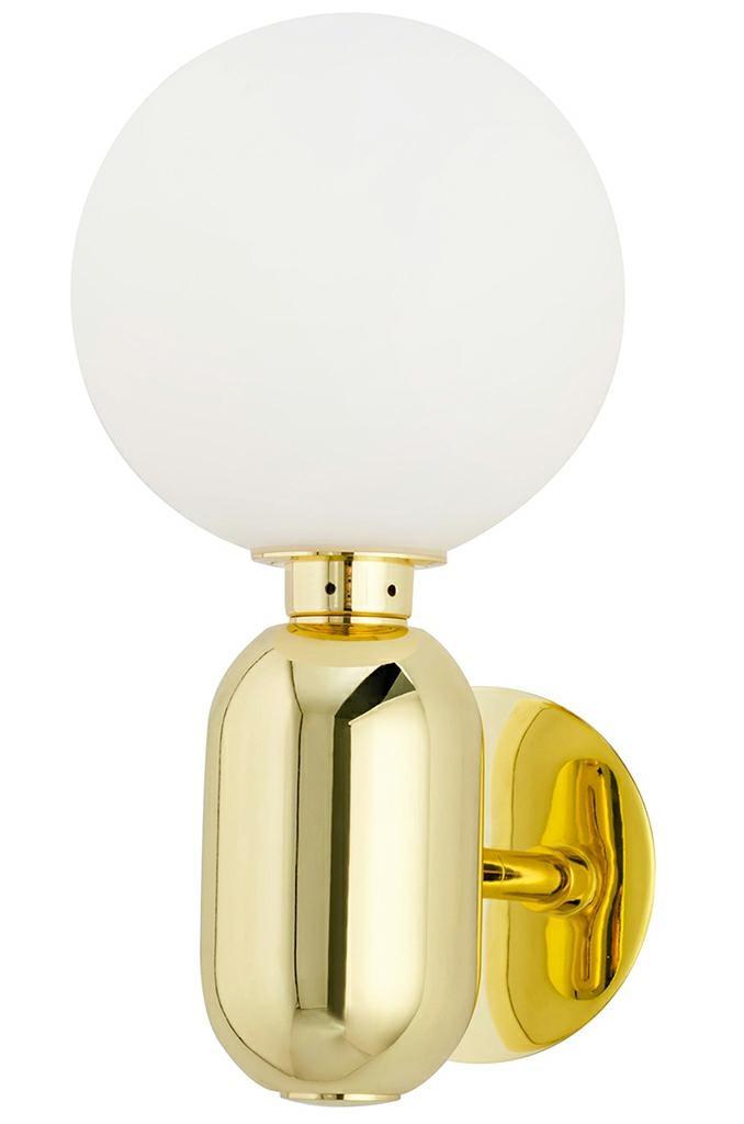 Kinkiet BOY złoty - LED, szkło, metal