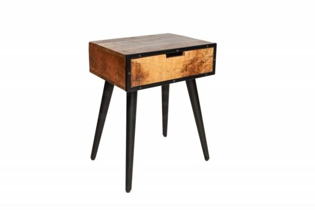 INVICTA stolik nocny INDUSTRIAL 45 cm  - Mango, drewno naturalne