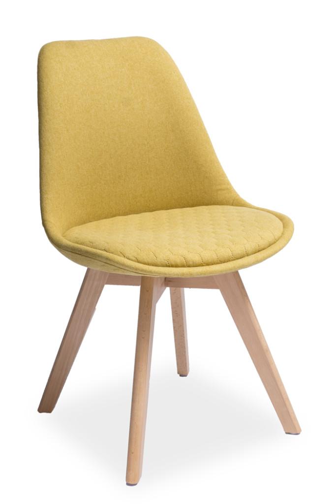 """Krzesło """"LEO"""" żółte"""