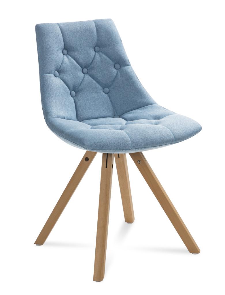"""Krzesło """"LEO"""" niebieskie"""