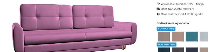 Konfigurator sofy 3D - dobieraj kolory i elementy